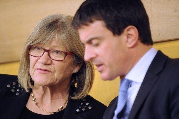 Dolorès Roqué et Manuel Valls à Béziers le 10 décembre 2012