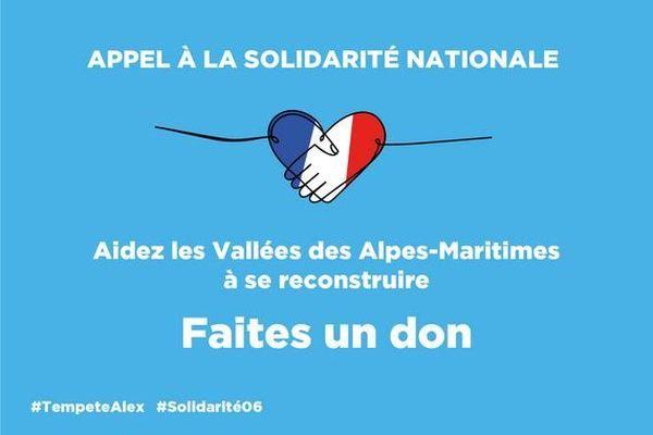 Le logo de la campagne de dons lancée par le conseil départemental des Alpes-Maritimes.