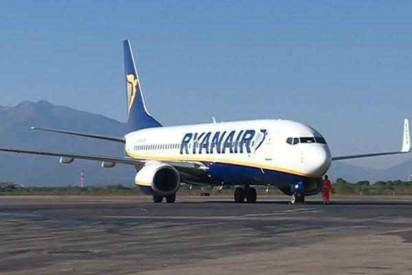 L'avion en provenance de Marrakech s'est posé ce matin sur le tarmac de l'aéroport Perpignan-Rivesaltes - 31 octobre 2017