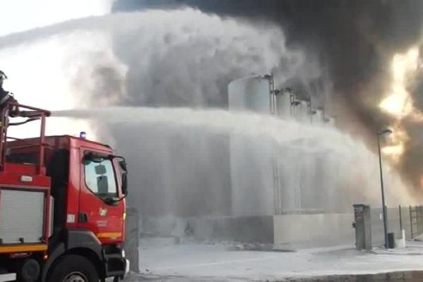 Les sapeurs pompiers en intervention à Meuzac le 26 octobre 2017.