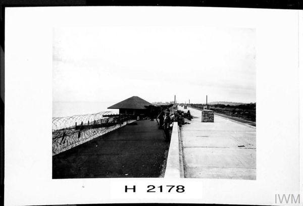 Défenses côtières britanniques entre Rye et Sandgate en juillet 1940.
