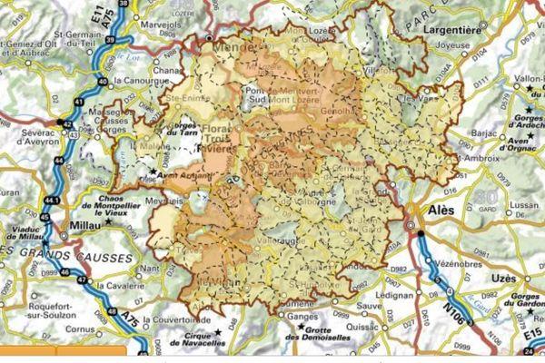Un parc national à cheval sur trois départements : Lozère, Gard et Ardèche.