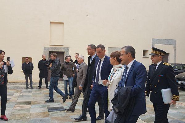 12/12/16 - La ministre de l'Environnement, de l'Energie et de la Mer, Ségolène Royal à Bastia (Haute-Corse)