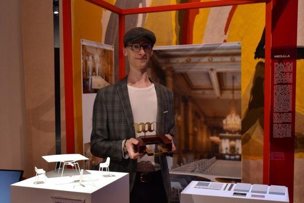Julien Roos, 1er prix Mobilier National - Jeune création 2020, pour l'aménagement de la salle du Conseil des ministres au Palais de l'Élysée.