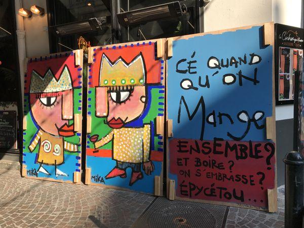 L'artiste nantais Mika a créé quelques œuvres pour le restaurant le Cochon qui fume.