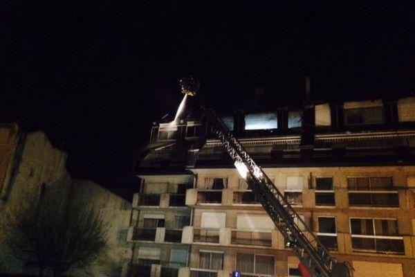 Une feu compliqué à atteindre pour les nombreux pompiers présents sur place