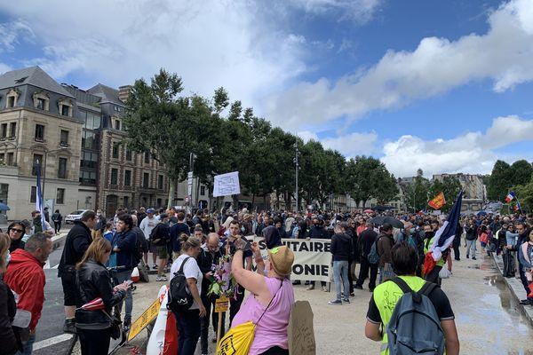 Manifestation anti-pass sanitaire à Rouen le 7 août 2021