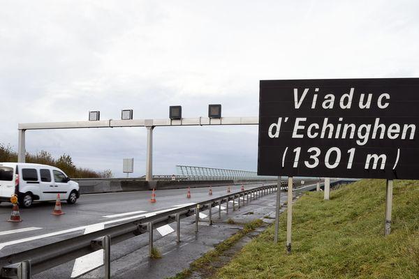 Le viaduc d'Echinghen, en novembre 2018.