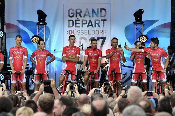 L'équipe Cofidis avant le départ du Tour de France 2017 à Dusseldorf, l'an dernier.
