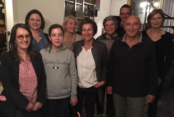 """Quelques-uns des participants d'Un livre un jour"""" à Caen."""