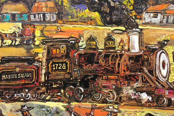 Un train vu par le peintre