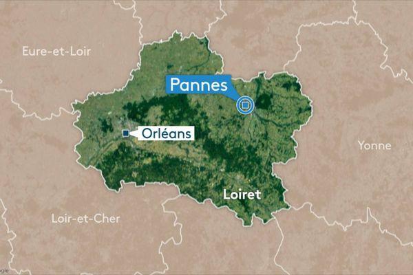 La victime a été retrouvée à la sortie de Pannes (Loiret)