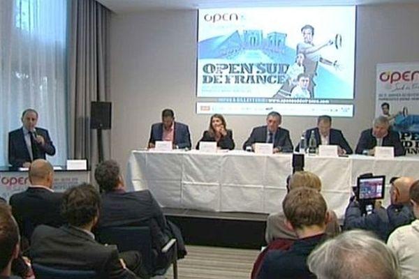 Montpellier - conférence de presse pour l'Open Sud de France - 15 janvier 2015.