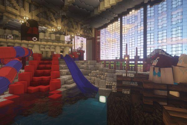 Le parc aquatique Rulantica a lui aussi été fort soigneusement reconstitué.