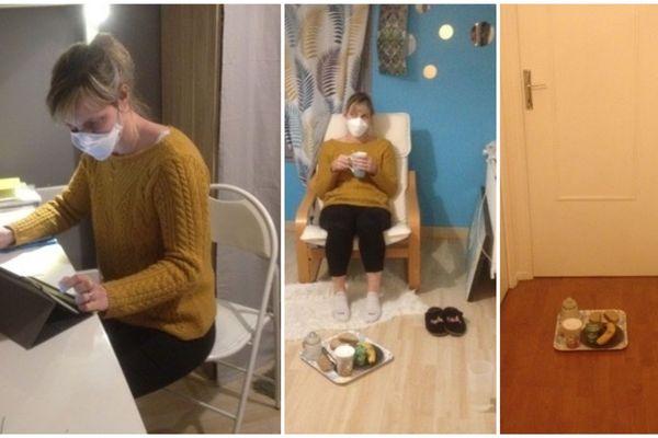 Médecin à Reims, Malika, touchée par le covid-19, passe ses journées dans la chambre de sa fille, sans voir sa famille.