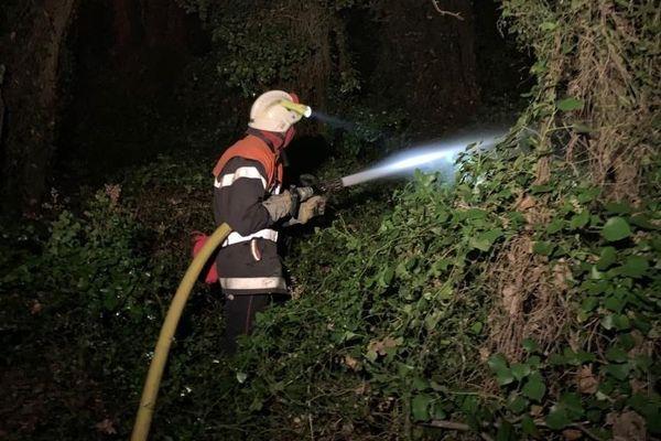 Depuis 16 heures, ce mercredi, un feu ravage la commune de Conques-sur-Orbiel, au nord de Carcassonne, dans l'Aude. A 22h, entre 150 et 200 hectares avaient déjà brûlé - 4 septembre 2019.