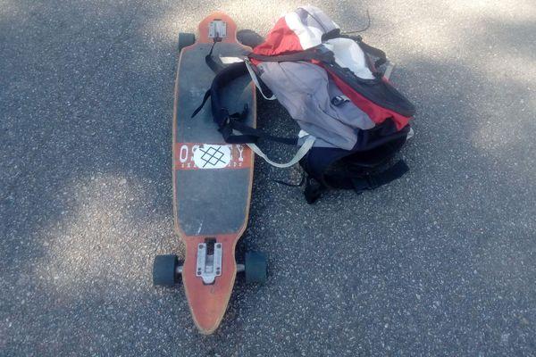Skate et sac à doc, en route pour les courses !