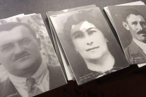 Visages sur céramique des victimes du massacre d'Oradour