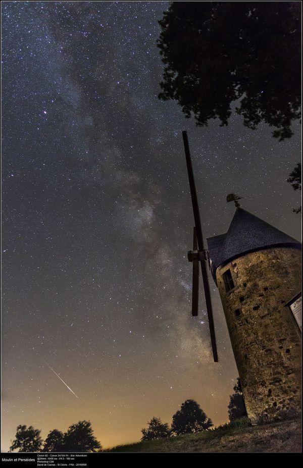Une étoile filante s'invite sur un fond de voie lactée