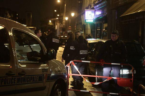 """Le lieu de l'interpellation d'Abdelhakim Dekhar, le """"tireur de Libé"""", à Bois-Colombes, dans les Hauts-de-Seine, le 20 novembre 2013."""