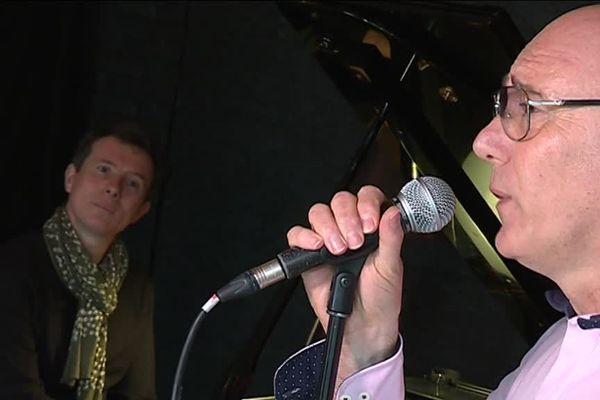 Pour son concert sur la scène de l'Olympia le 23 avril prochain, François Libner (à droite) sera accompagné par David Henry, un pianiste professionnel.
