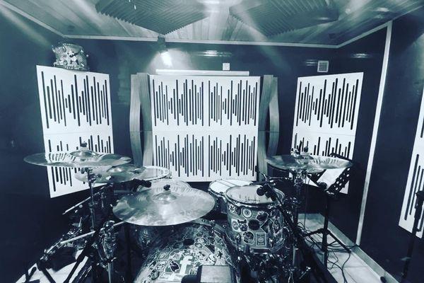 Un studio d'enregistrement professionnel à Oeting (Moselle).