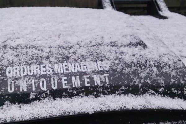 Il a neigé cette nuit à Biarritz comme sur tout le département des Pyrénées-Atlantiques