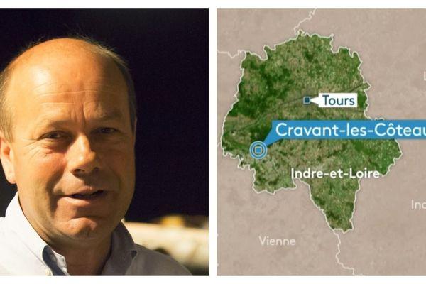 Portrait de Christophe Baudry, maire de Cravant-les-Côteaux. Une petite municipalité rurale.