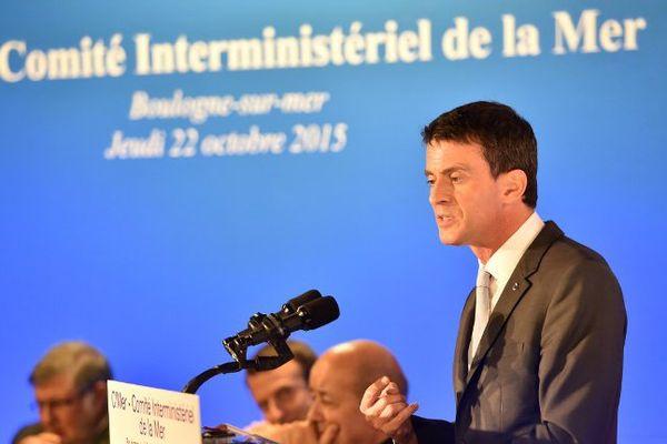Manuel Valls à Boulogne-sur-mer ce jeudi.