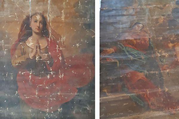 Deux des 3 oeuvres restituées