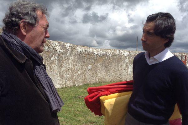 Zocato et Curro Díaz. Le tentadero va commencer chez Aurelio Hernando.