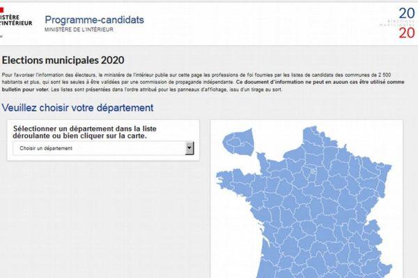 Les programmes des candidats aux municipales 2020 mis en ligne par le ministère de l'intérieur