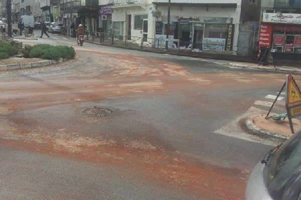 Rond point Lanxade, où a eu lieu l'accident ce vendredi matin.