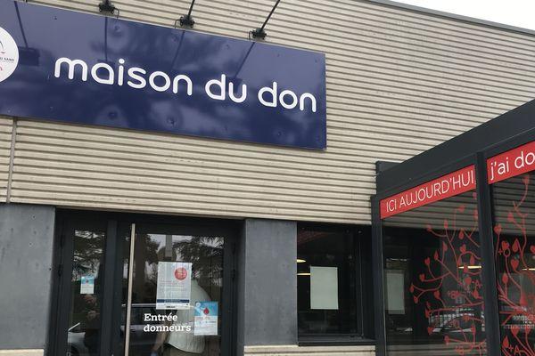 La maison du don, de l'EFS, à Dijon