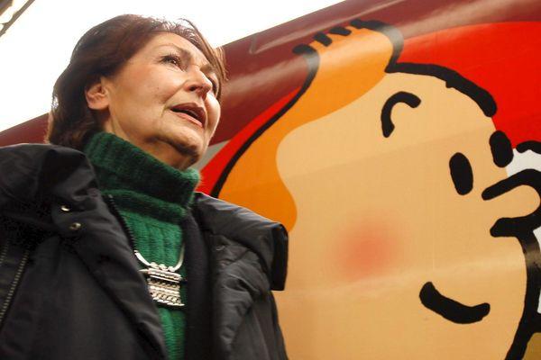 Fanny Rodwell, veuve d'Hergé, veille strictement sur l'héritage du père de Tintin.