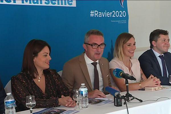 Le sénateur RN Stéphane Ravier a présenté ses co-listiers pour les élections municipales de 2020 à Marseille.