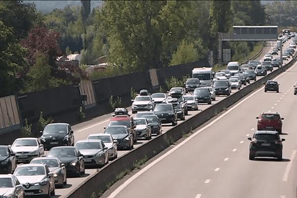 10 kms de bouchons ont été enregistrés sur l'A20 au niveau de Brive, ce samedi 26 août.