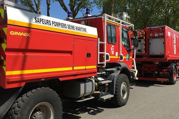 Véhicules tout-terrain des pompiers de Seine-Maritime