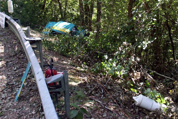 Trois personnes sont mortes, fauchées par cette voiture, le 24 août 2014, lors de la course de côte de Tillac, dans le Gers.