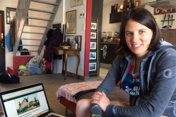 Charline Picon, véliplanchiste médaillée d'or aux JO de Rio 2016.