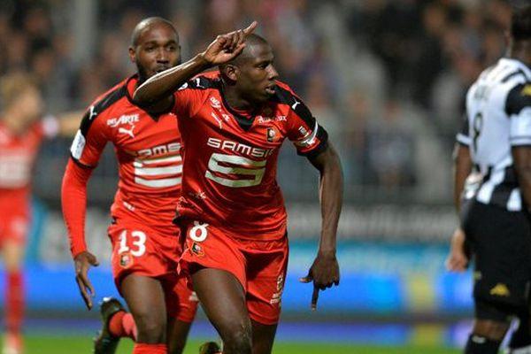 La Joie d'Abdoulaye DOUCOURE après son but dès l'entame de la rencontre