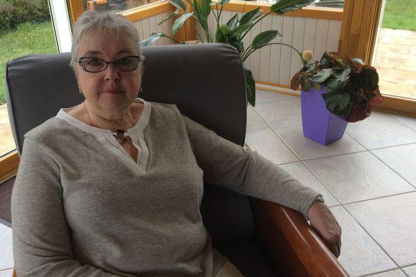 Florence Bourral, irradiée de Mururoa, photographiée chez elle à Sainte-Luce-sur-Loire, le 20 mars 2019