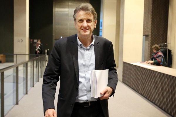 Jean-François Macaire dans les couloirs du Conseil régional ALPC le 22 février 2016.