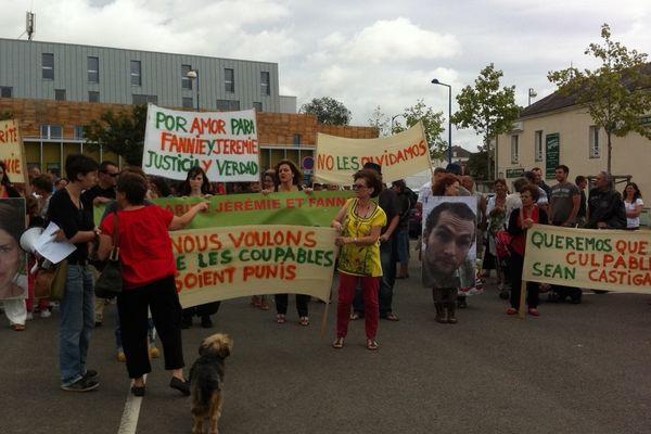 La marche de soutien pour Fannie et Jérémie à Nort sur Erdre, le 04 août 2012