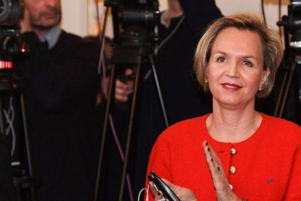 La première Adjointe au maire de Bordeaux, Virginie Calmels, ce jeudi lors des adieux du maire Alain Juppé.