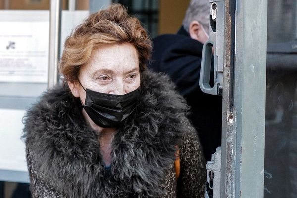 Jacqueline Veyrac à sa sortie du palais de justice de Nice le 8 janvier.