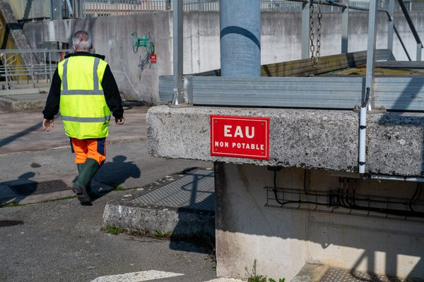 Station d'épuration du port Douvot à Besançon.