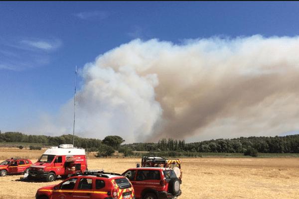 Départ de feu à Lambesc et Saint Cannas