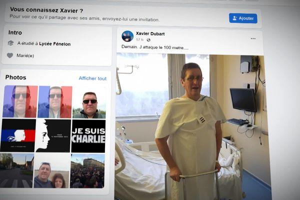 Xavier garde le contact avec ses proches et ses amis, avec un certain humour. Un homme debout !