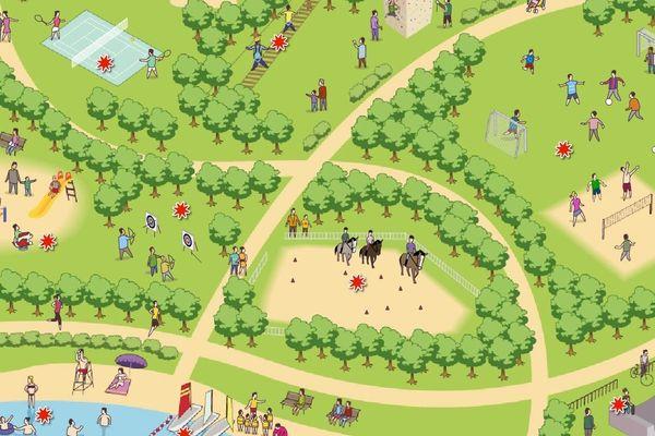 Le site de la région Île-de-France a conçu une carte interactive pour découvrir les bases de loisirs franciliennes
